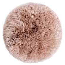 Load image into Gallery viewer, New Zealand Sheepskin Stool Light Brown