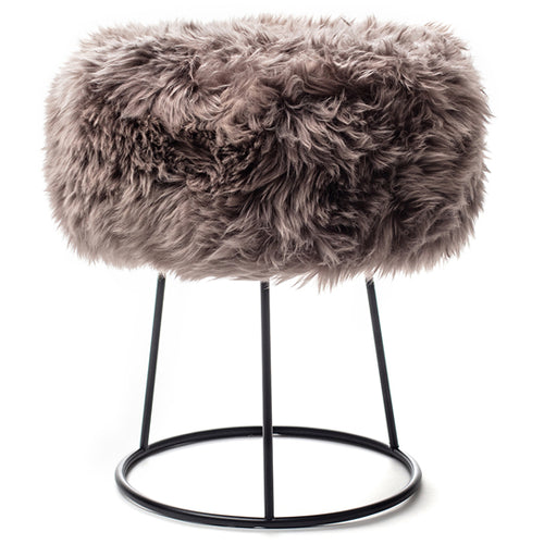 New Zealand Sheepskin Stool Taupe
