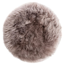 Load image into Gallery viewer, New Zealand Sheepskin Stool Taupe