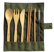 Load image into Gallery viewer, Bamboo Zero Waste Cutlery Set