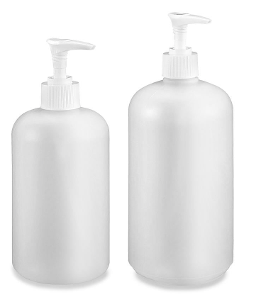 Boston Round Pump Bottle 16 oz | 32 oz