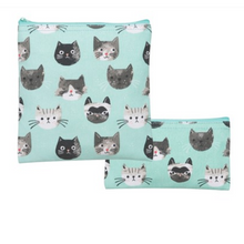 Load image into Gallery viewer, SNACK BAGS (SET OF 2) CAT'S MEOW
