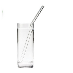 "Skinny 8"" 9.5mm Glass Drinking Straws"