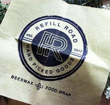 Load image into Gallery viewer, Beeswax Food Wrap | Refill Road Logo