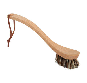Dish Brush | Curved handle darker bristles