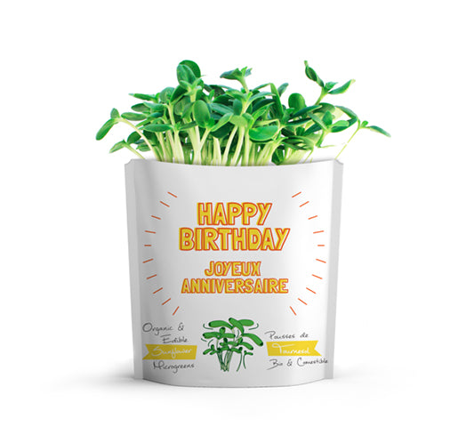 Happy Birthday Card | Sunflower Microgreens
