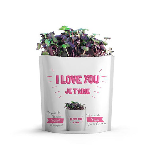 I Love You | Radish Microgreens Card