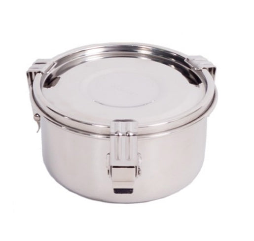 Onyx 3-Clip Airtight Stainless Steel Container 10 cm & 12cm