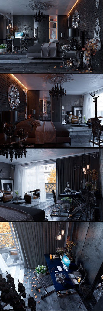 the spa lab black and white interiors looks love