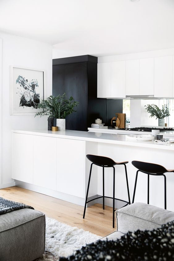 the spa lab kitchen living space decor black white love inspirations