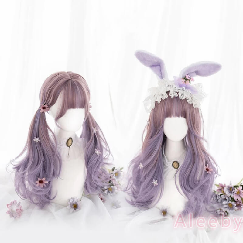 LOLITA PASTEL PURPLE GRADIENT LONG CURLY WIG BY00300