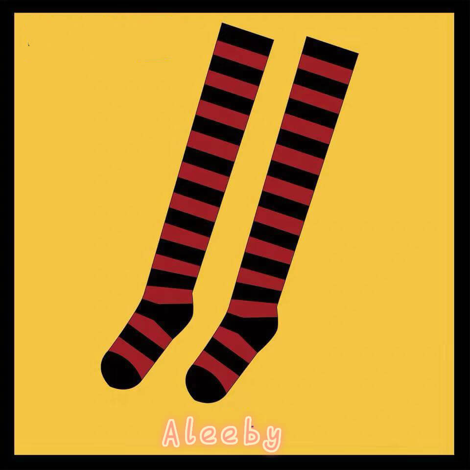 JAPANESE COS STRIPED KNEE SOCKS BY64024