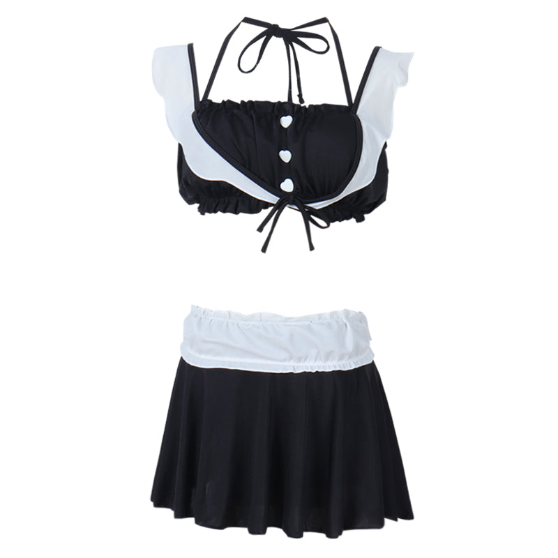 JAPANESE SWEET STUDENT CASUAL TWO-PIECES SWIMSUIT BY66009