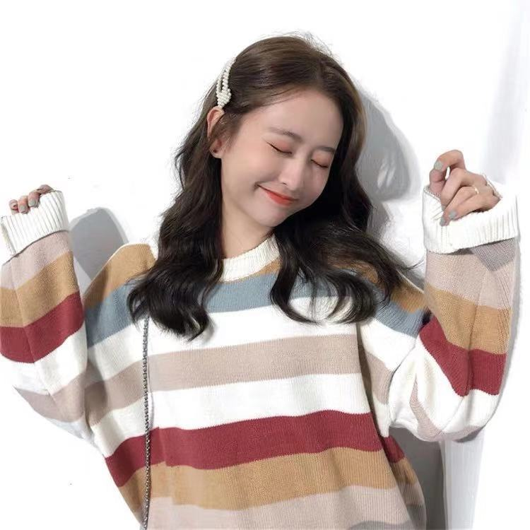 2019 NEW STRIPE KNIT SWEATER BY21134
