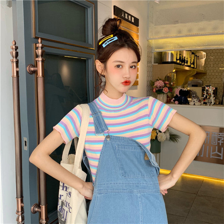 2019 SWEET RAINBOW KNIT SHIRT BY22112