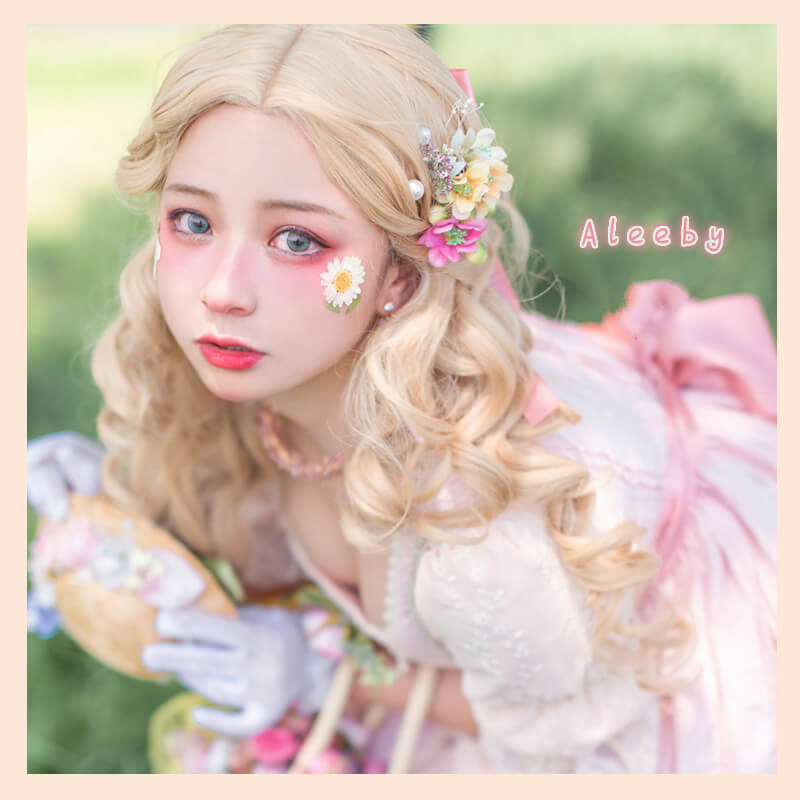 2020 ALEEBY NEW BLONDE COS LONG CURLY WIG BY51311