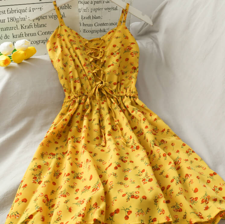 2020 NEW SWEET FLORAL SLING DRESS BY61903