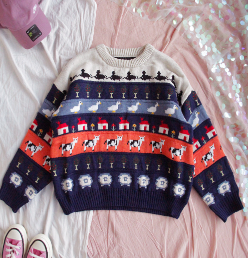 VINTAGE CUTE SOFT THICK SWEATER BY21082