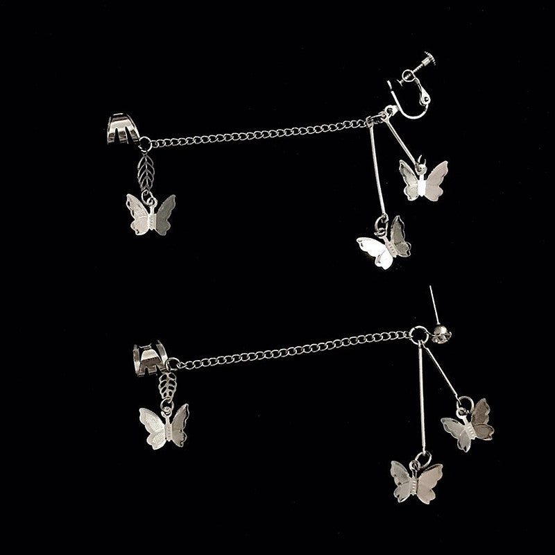 A PAIR RETRO BUTTERFLY EARRINGS BY14003