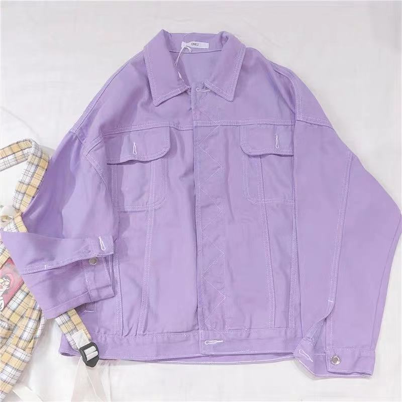 PURPLE DENIM COAT BY24067