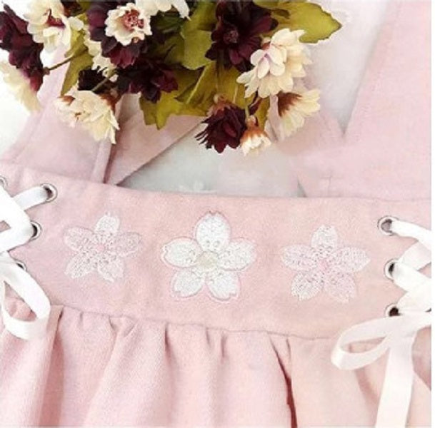 JAPANESE CHERRY BLOSSOM EMBROIDERY HALTER SKIRT BY61087