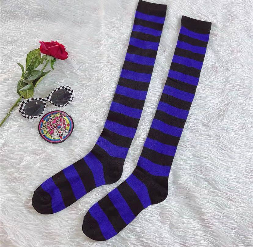JAPANESE COS STRIPED KNEE SOCKS BY88888
