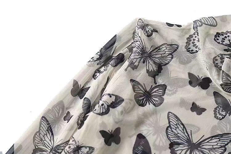 VINTAGE CUTE BUTTERFLY TOP BY22196