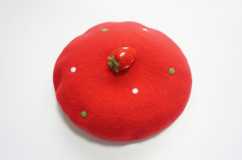 ''A STRAWBERRT'' POINT RED BERET BY51020