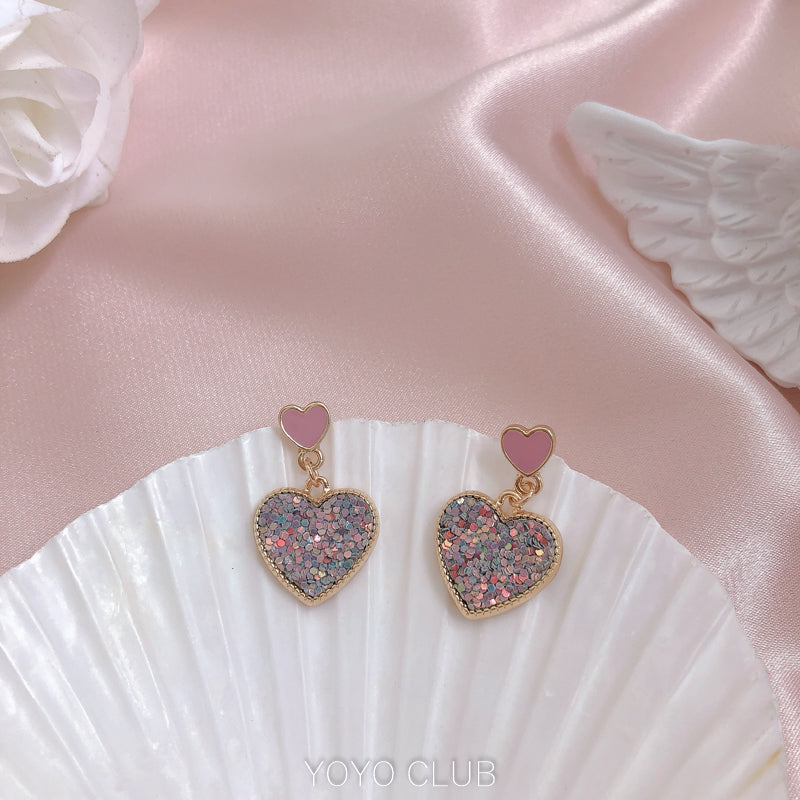 BLING BLING LOVE EARRINGS BY14007