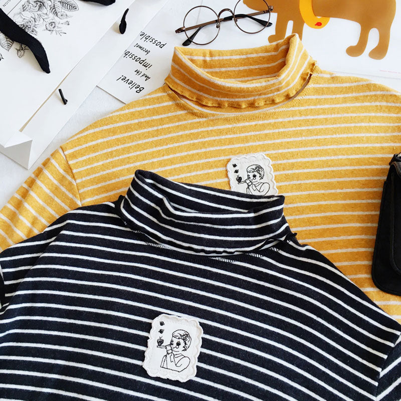 BUBBLE BOY STRIPE LONG-SLEEVE T-SHIRT BY22895