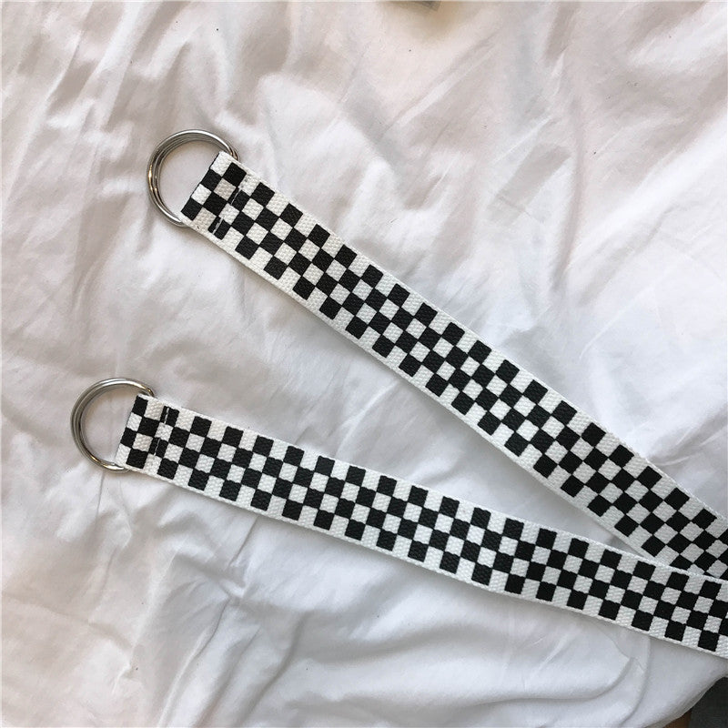 CHIC LATTICE CANVAS BELT BY18020