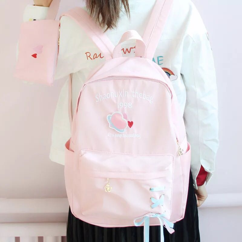CHIC LOVE LETTER EMBROIDERY BACKPACK BY50705