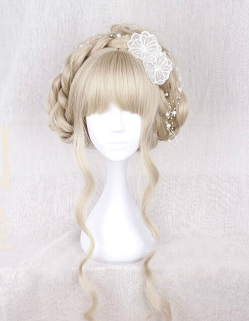 CUTE DOLL BLONDE LONG CURLY WIG BY071702