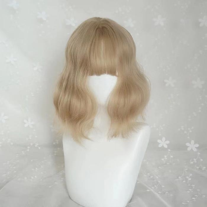 CUTE AIR BANGS GOLD WIG