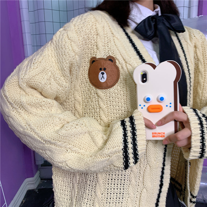 CUTE BEAR JK SWEATER COAT BY21076