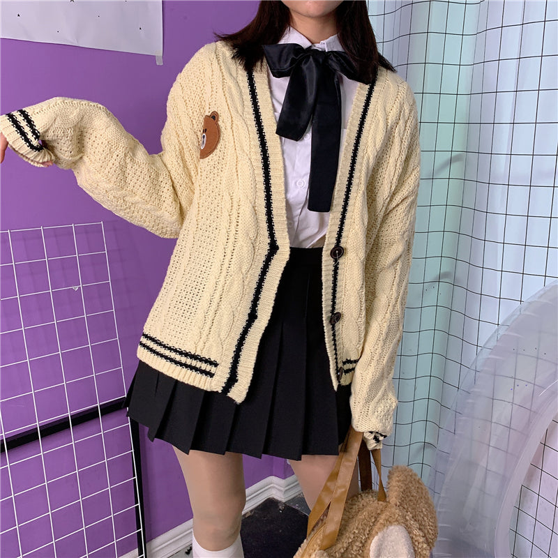 BIG SALE CUTE BEAR JK SWEATER COAT BY21076