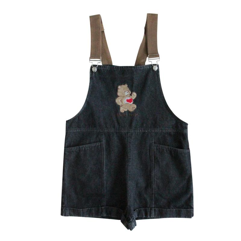 CUTE BEAR EMBROIDERY BELT SHORTS BY62021