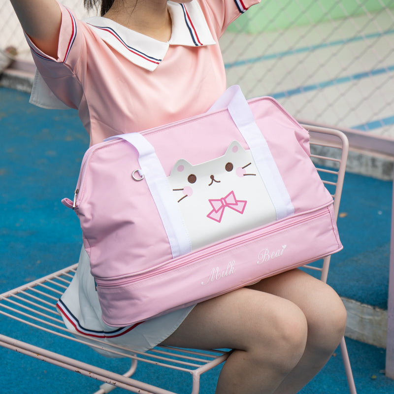 CUTE CAT MULTIFUNCTIONAL TRAVEL HANDBAG
