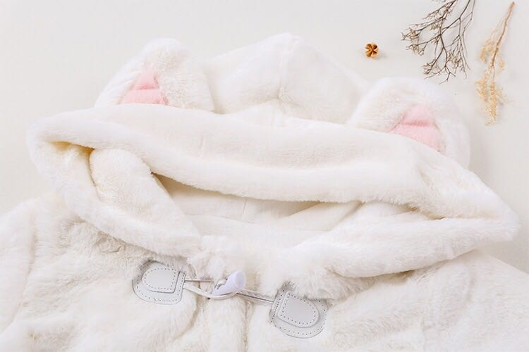 CUTE CAT PLUSH COAT BY24001