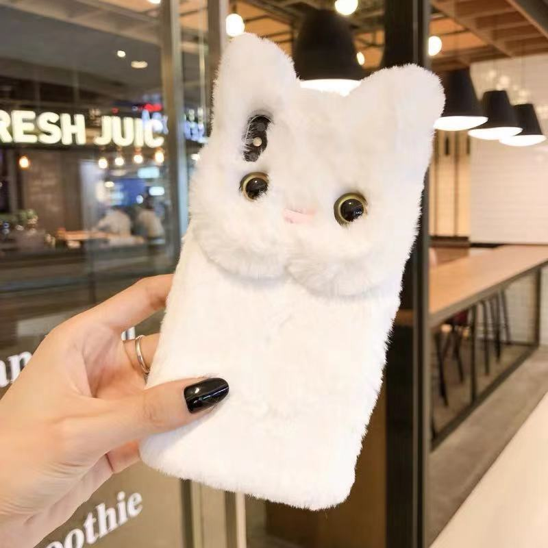 CUTE CAT VELVET IPHONE CASE