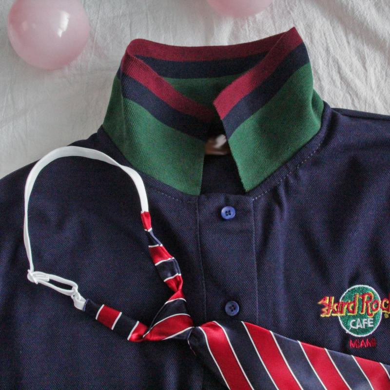 CUTE EMBROIDERY COLLEGE STYLE POLO T-SHIRT BY22211
