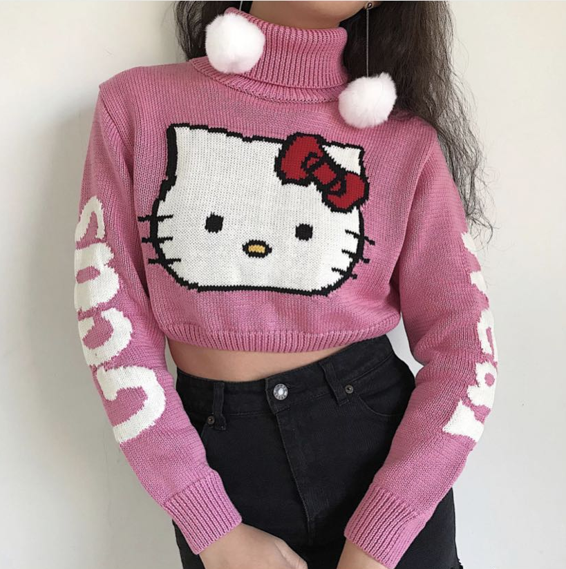 CUTE ''HELLO KITTY'' KNIT SWEATER BY21033