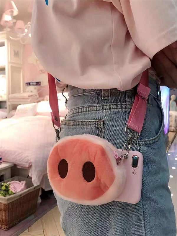 CUTE PIGGY VELVET IPHONE CASE