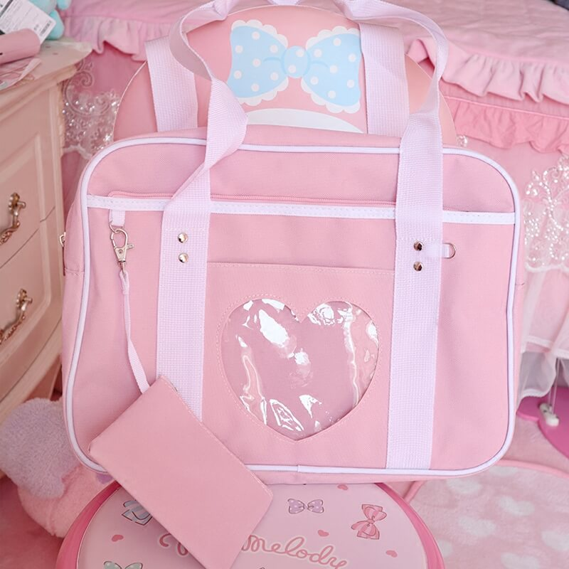 CUTE PINK LOVE TRAVEL HANDBAG BY92021