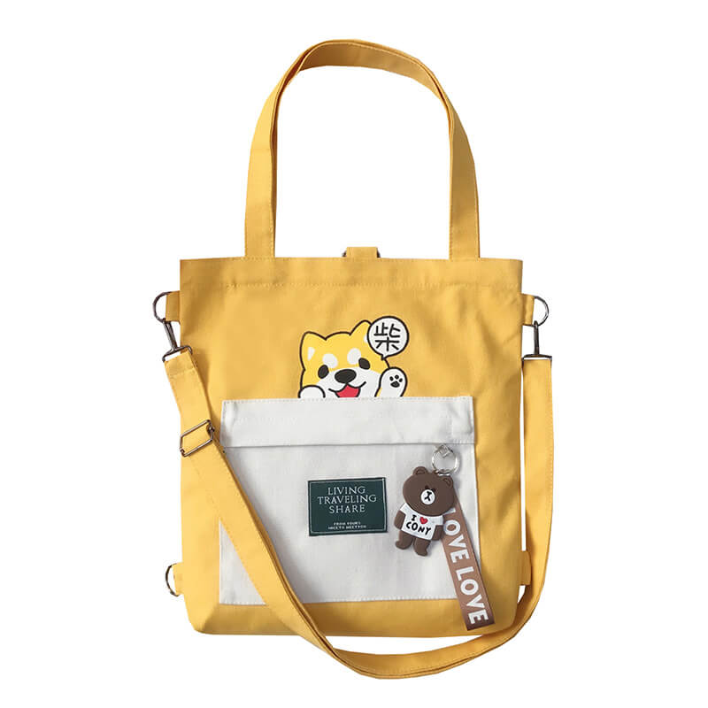 CUTE ''SHIBA LNU'' CANVAS BAG BY94025