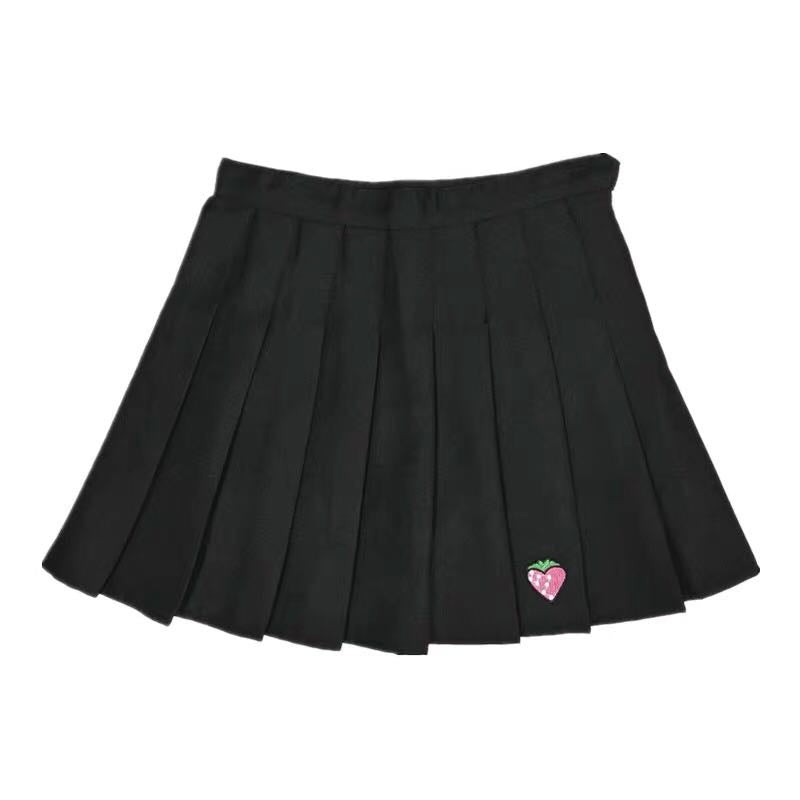CUTE STRAWBERRY PLEATED SKIRT BY61003