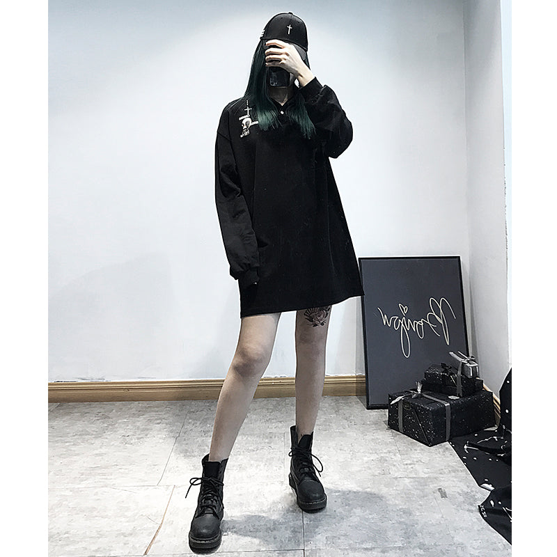 DARK POLO LOOSE SWEATER BY21130