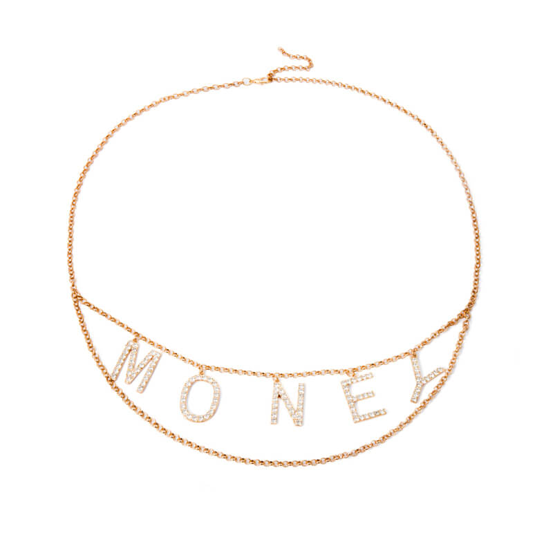FASHION ''MONEY'' METAL WAIST CHAIN BY18026