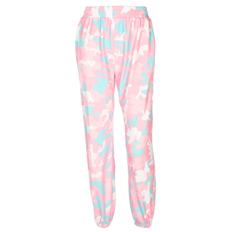 FASHION PINK CAMOUFLAGE PANTS BY63065