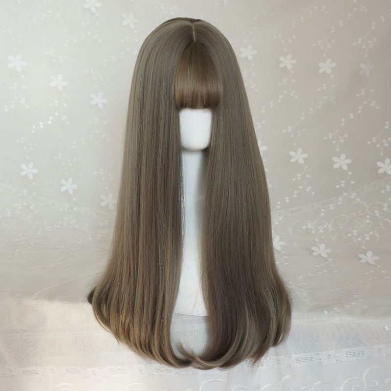 GRAY NATURAL SLIGHTLY ROLLED WIG BY31101